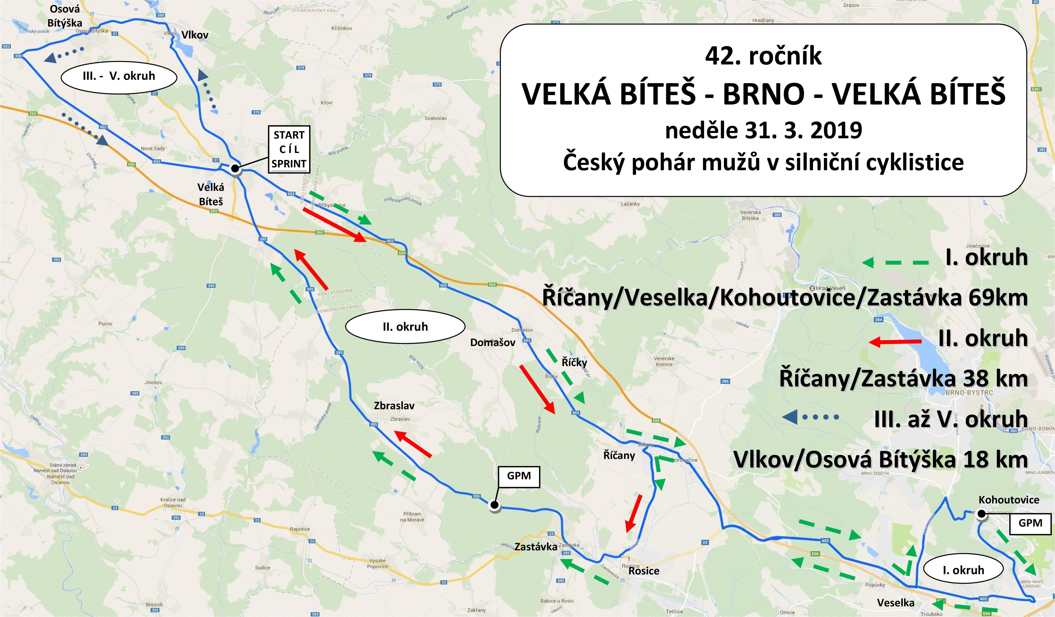 Mapa Trasy 190225 Tj Favorit Brno